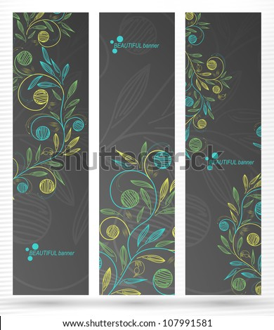 eps10, banner with floral pattern