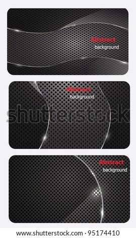 eps10, brochure business card banner metal glass abstract background style