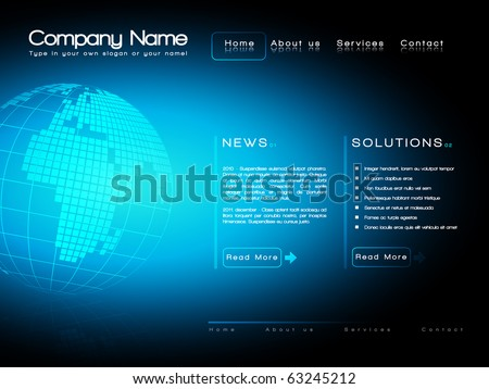 EPS10 Business website template vector