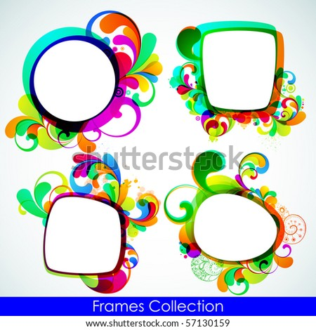 EPS10. Collection of trendy frames for your design