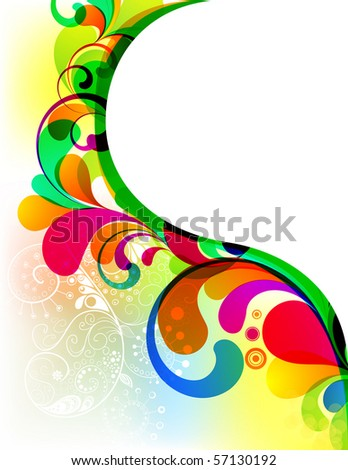 EPS10. Colorful background with space for your message