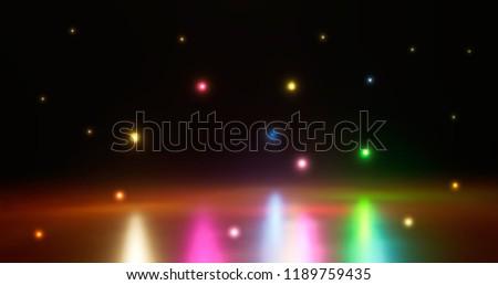 eps10 colorful defocused bokeh