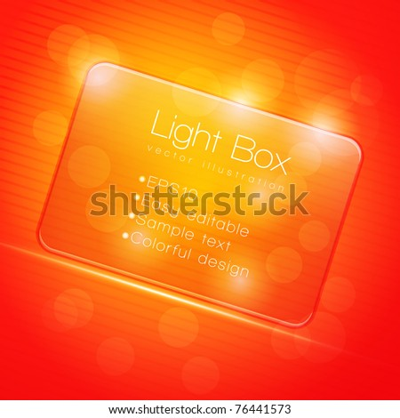 EPS10 Colorful Glass Transparent Web Box - Vector Illustration