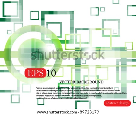 Eps10 Colorful Green Vector Business Design