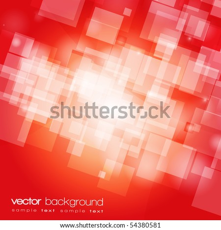 EPS10 colorful red vector background with text