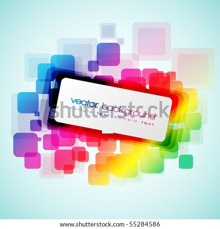 EPS10 Colorful Rounded Squares Abstract Vector Background