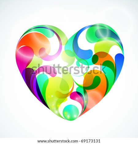 EPS10. Colorful vector heart illustration for your design idea.