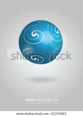 EPS10 3D Blue Shiny Globe Vector