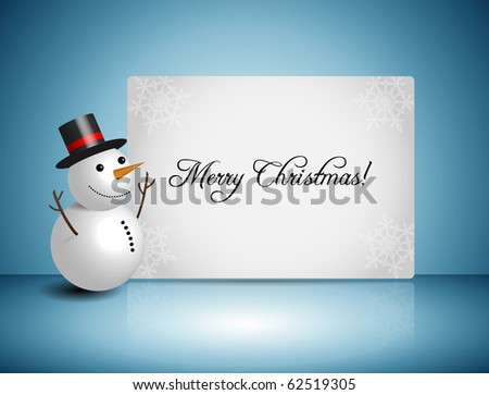 EPS10 3D Snowman Vector Design