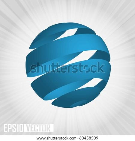 EPS10 3D World globe vector illustration