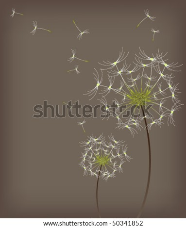 eps10 dandelion background