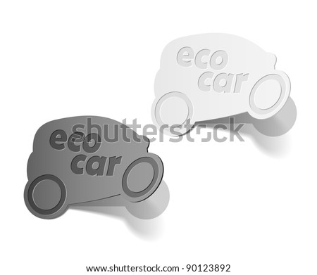 eps10, eco car, realistic design elements
