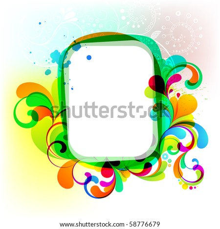 EPS10. Editable colorful frame for your design