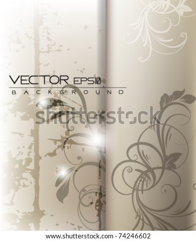 eps10 foliage grunge vector abstract design