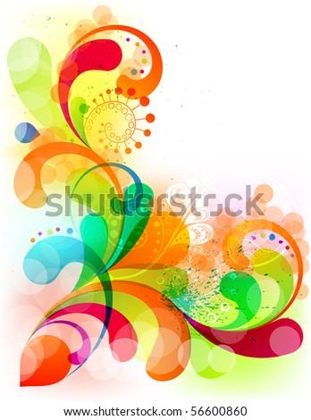 EPS10. Fully editable, attractive colorful composition. - stock vector