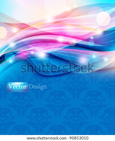 Eps10 Futuristic Colorful Modern Abstract Wave Design