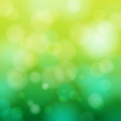 EPS 10 Green bokeh abstract light background - Vector illustration