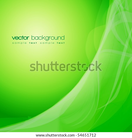 EPS10 Green smoke vector background with text - stock vector