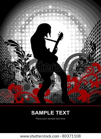 EPS 10, guitarist - web and print template