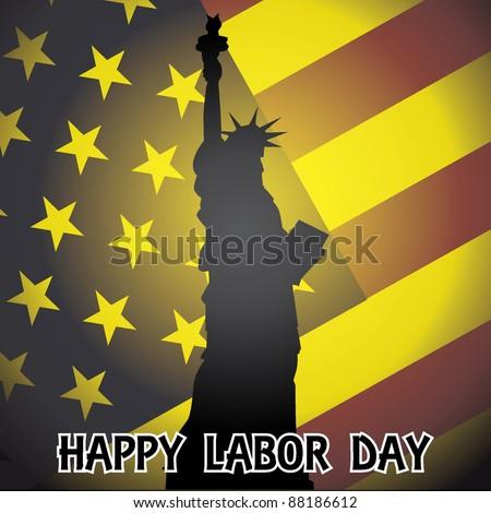 eps10 happy labor day - illustration