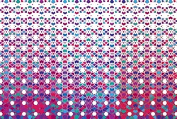 EPS 10 illustration high resolution vector colored and hafttone abstract pattern background.