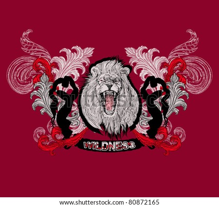 EPS 10, King Lion (vector t-shirt design)