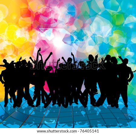 EPS10 party people vector background - stock vectorYouth Group Vector