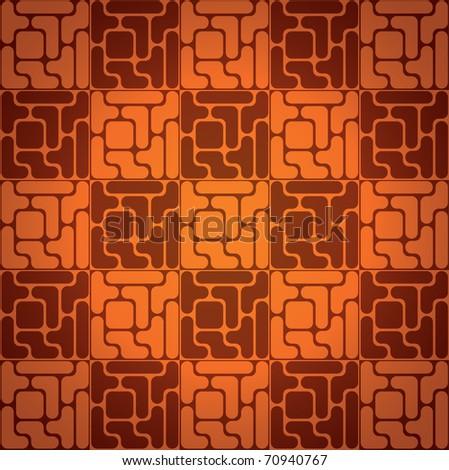 EPS10 Seamless pattern like tetris game - illustration