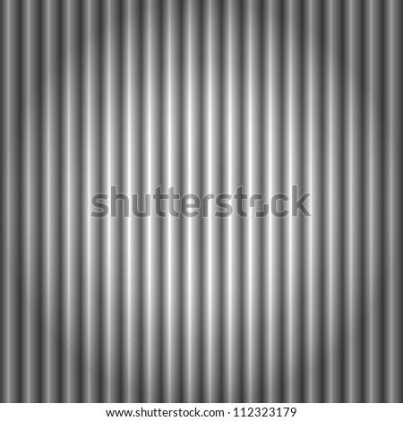 EPS 10: Seamless pattern of cool metallic silver or grey corrugated metal background