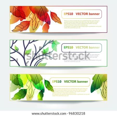 eps10 set of vector sesonal banners - stock vector