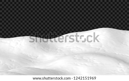 eps10 snowy landscape isolated