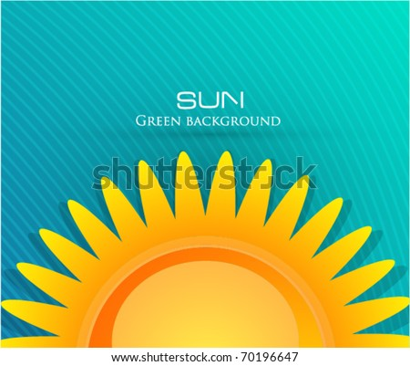 eps10 sun background