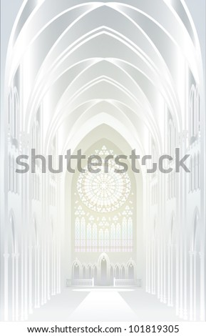 EPS10/ The architectural background - silver. Imagination in Gothic style