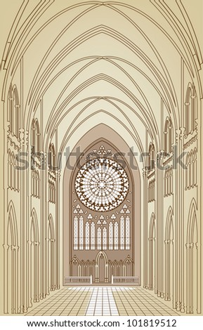 eps 8  the interior of a gothic