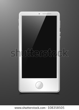 eps10, touchscreen smartphone, vector model