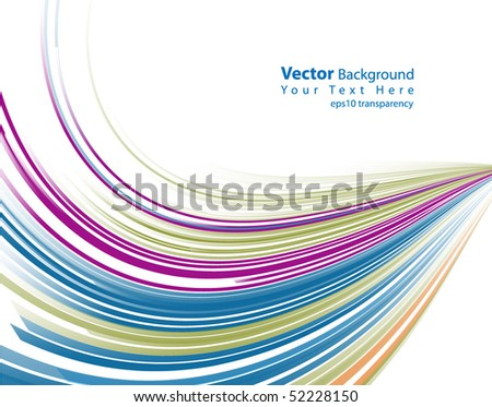 eps10 transparency vector abstract colorful lines