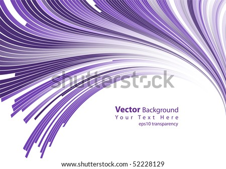 eps10 transparency vector abstract purple lines - stock vector
