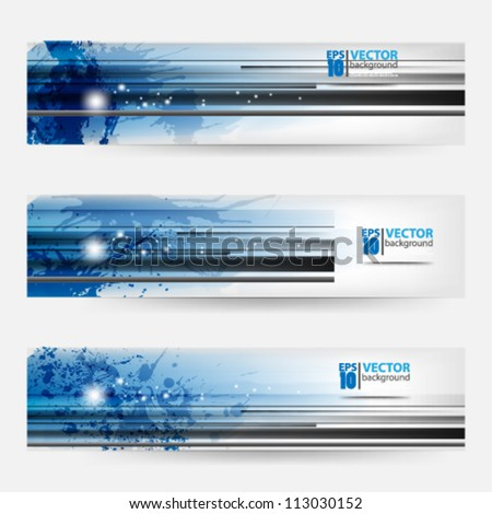eps10 vector abstract banner set splatter template design