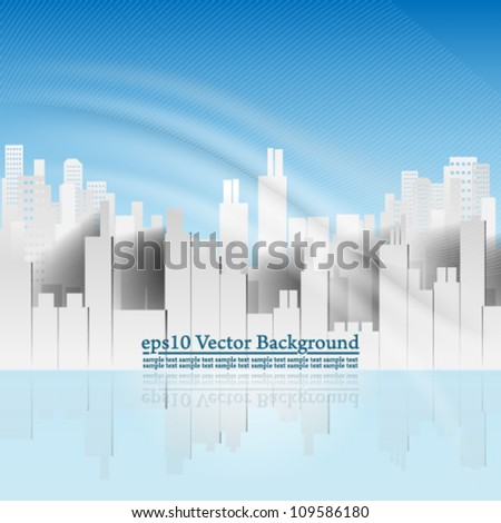 eps10 vector abstract building background with elegant wave design