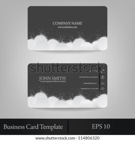 eps10 vector abstract cloud splatter business card template