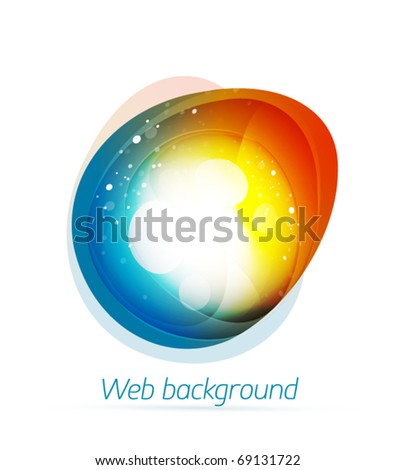 Eps10 vector abstract colorful shape