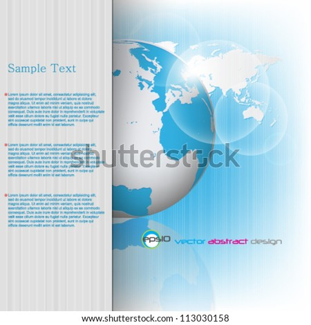 eps10 vector abstract corporate background with detailed map