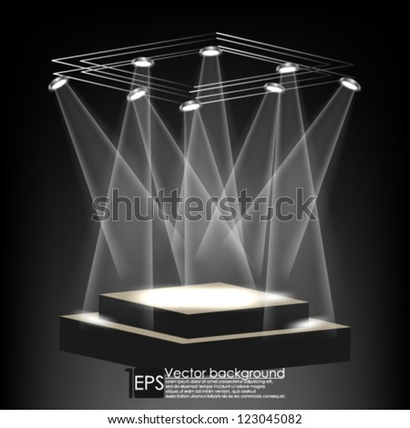 Eps10 Vector Abstract Elegant Stage background