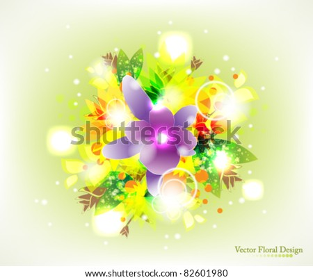 Eps10 Vector Abstract Floral Design Background