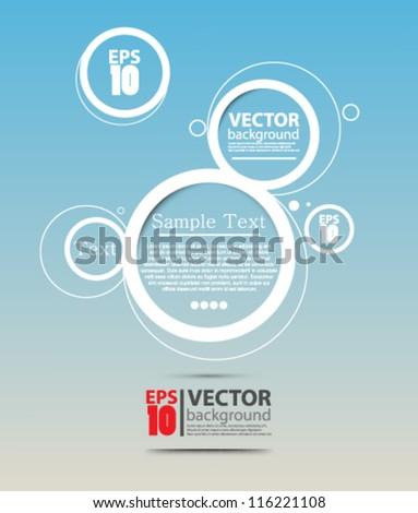eps10 vector abstract futuristic bubble website design