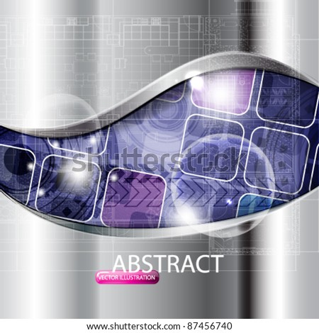 eps10 vector abstract futuristic chrome design background