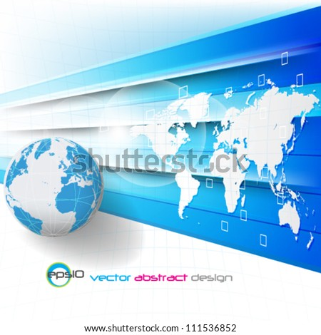 eps10 vector abstract futuristic globe background
