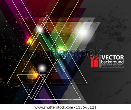 eps10 vector abstract geometic background