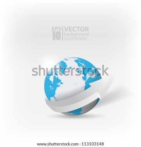 eps10 vector abstract globe design with arrow