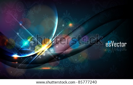 eps10 vector abstract glowing background design